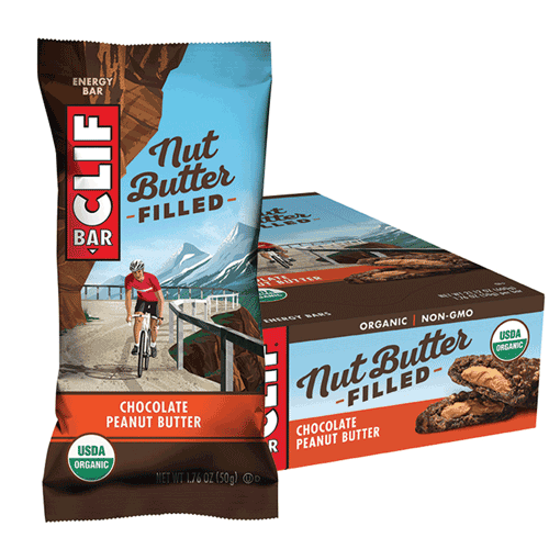 CLIF NUT BUTTER FILLED BAR Chocolate Peanut Butter Display Box of 12 12x50g