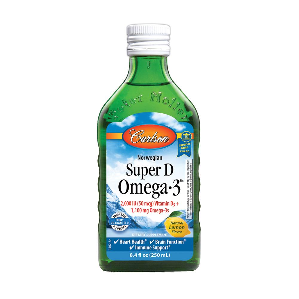 CARLSON Super D Omega 3 Lemon Flavour 250ml