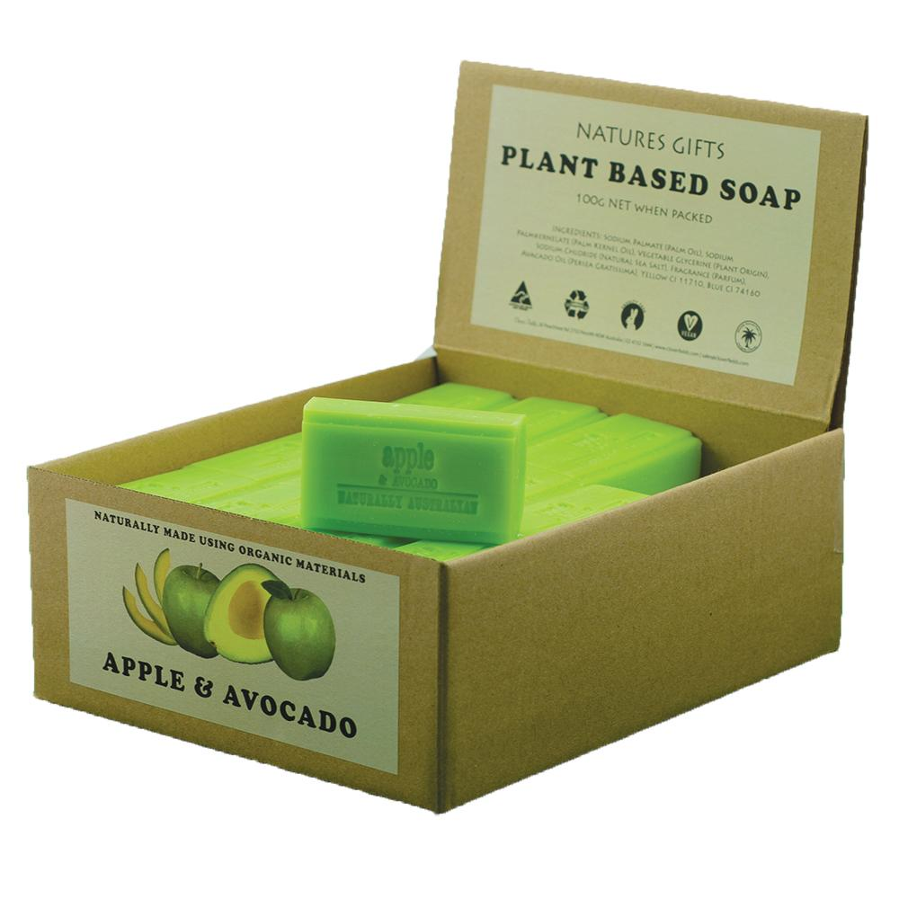 CLOVER FIELDS Apple & Avocado Soap 100g x 36 Display Pack