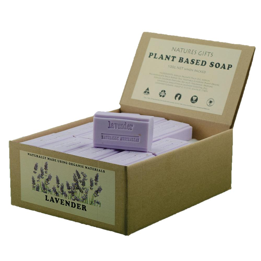 CLOVER FIELDS Australian Lavender Soap 100g x 36 Display Pack