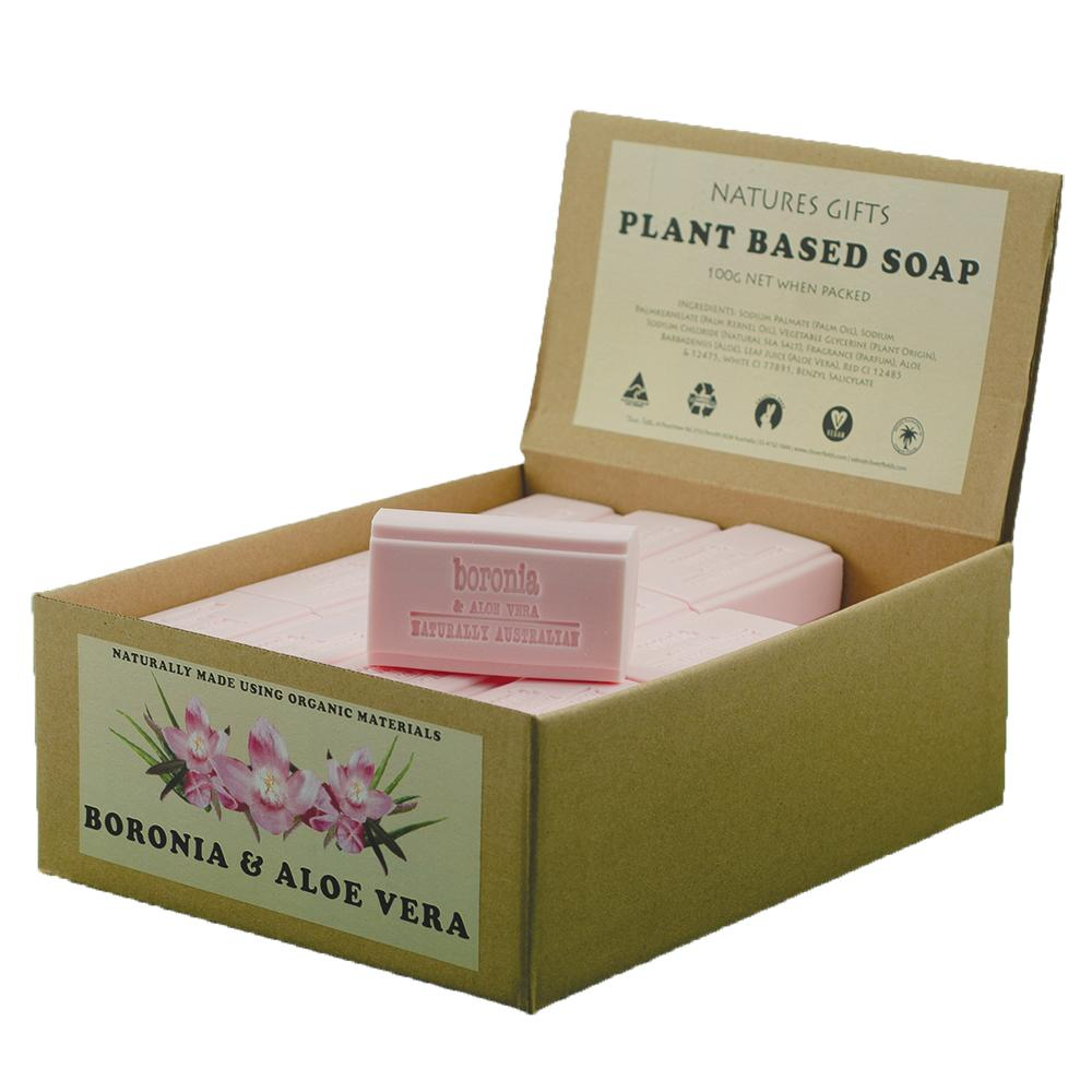 CLOVER FIELDS Boronia & Aloe Soap 100g x 36 Display Pack