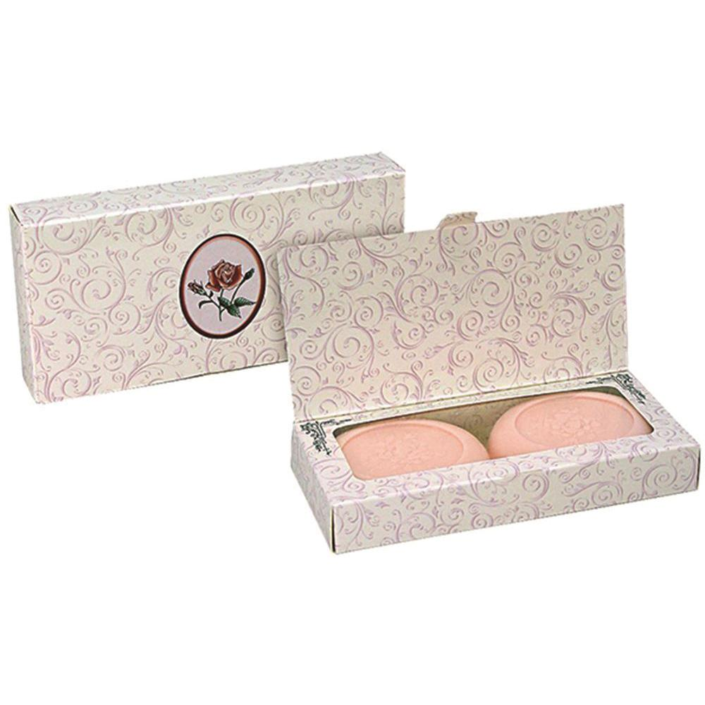 CLOVER FIELDS Boxed Round Soap Just Roses x 2 Pack