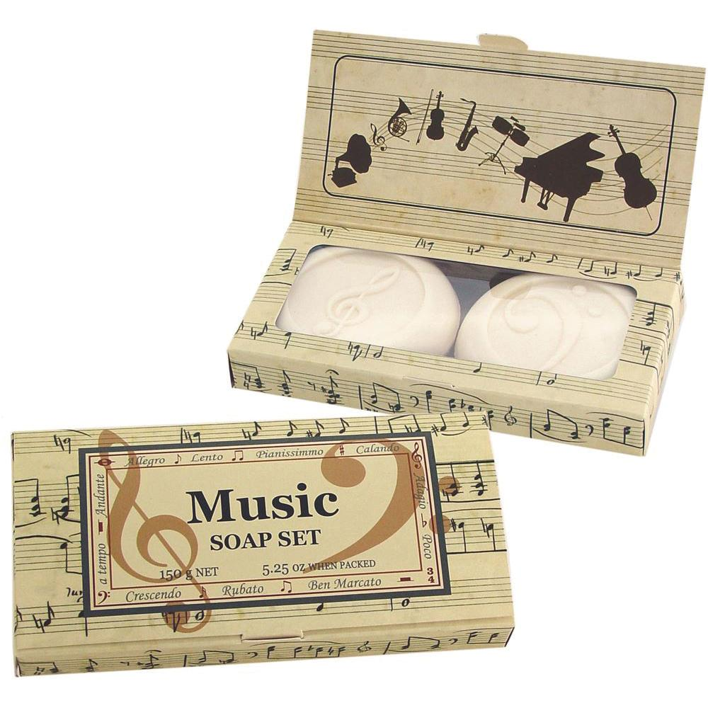 CLOVER FIELDS Boxed Round Soap Music x 2 Pack