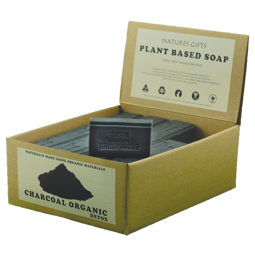 CLOVER FIELDS Charcoal Soap 100g x 36 Display