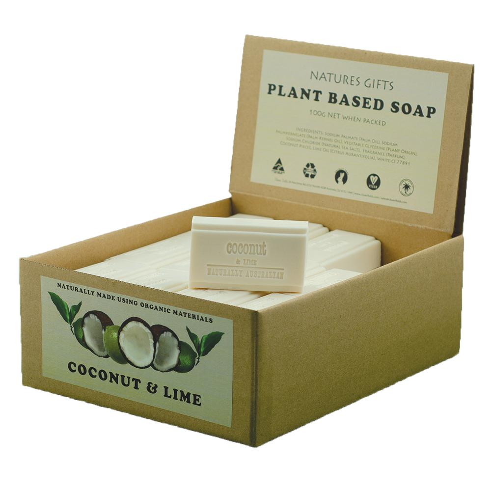 CLOVER FIELDS Coconut and Lime Soap 100g x 36 Display Pack