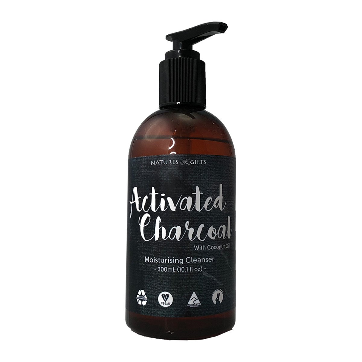 CLOVER FIELDS Natures Gifts Activated Charcoal with Coconut Oil  Moisturising Cleanser 300ml