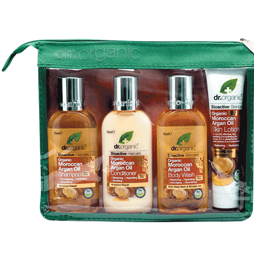 DR ORGANIC Mini Travel Pack Organic Moroccan Argan Oil 4