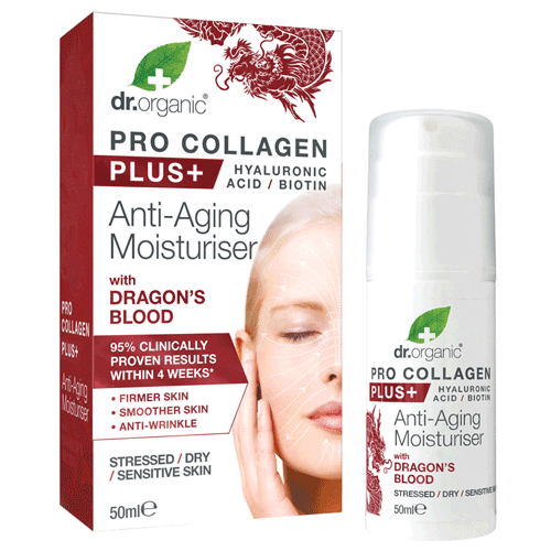 DR ORGANIC Pro Collagen Plus+ - Anti Aging Moisturiser With Dragons Blood 50ml