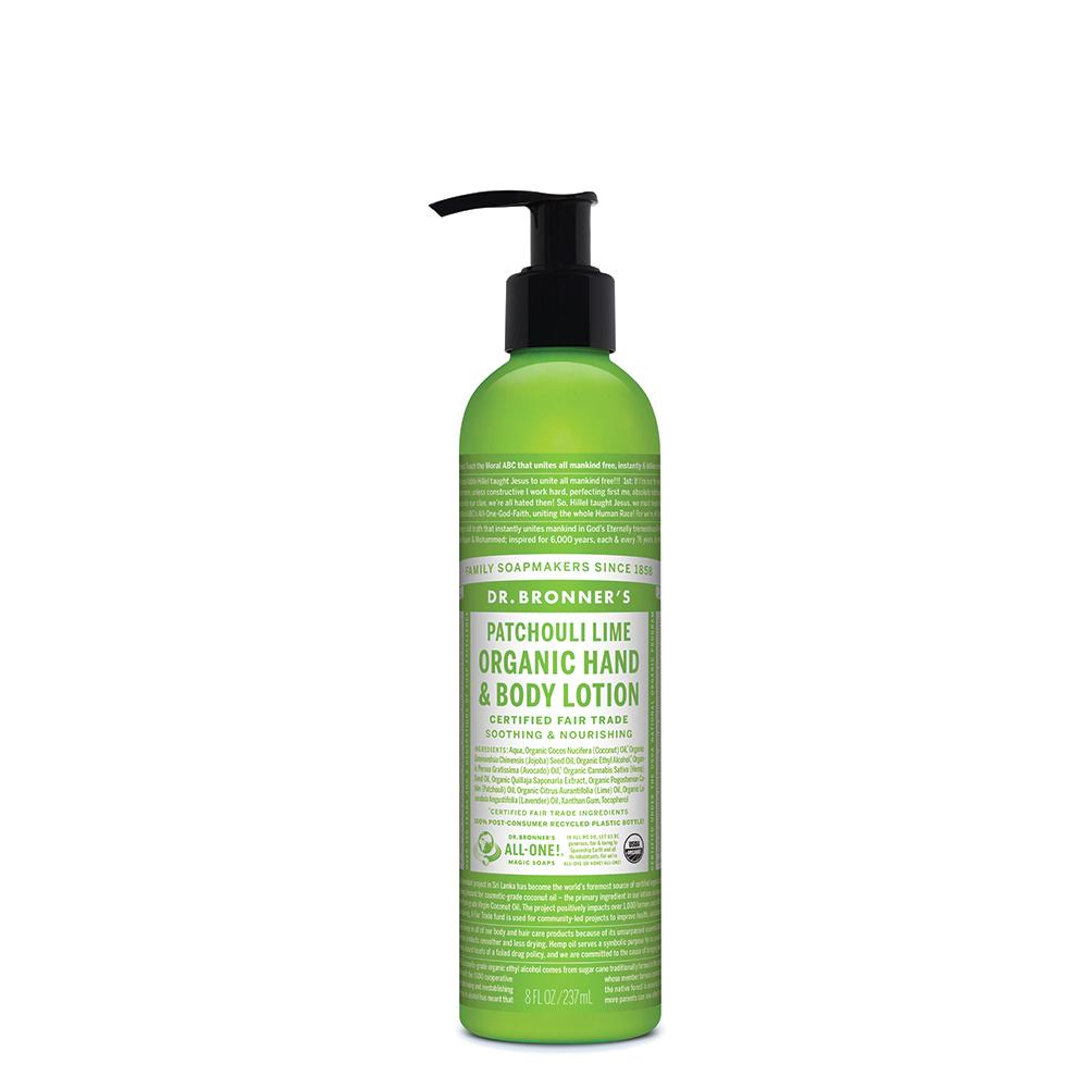 DR. BRONNER'S Org Hand & Body Lotion Patchouli Lime 237ml