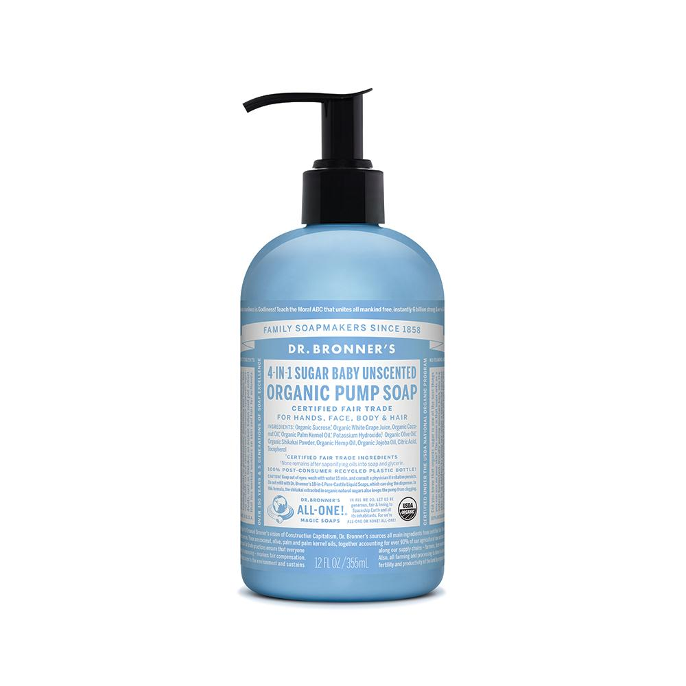 Dr. Bronner's Organic Pump Soap Baby Unscented 355ml