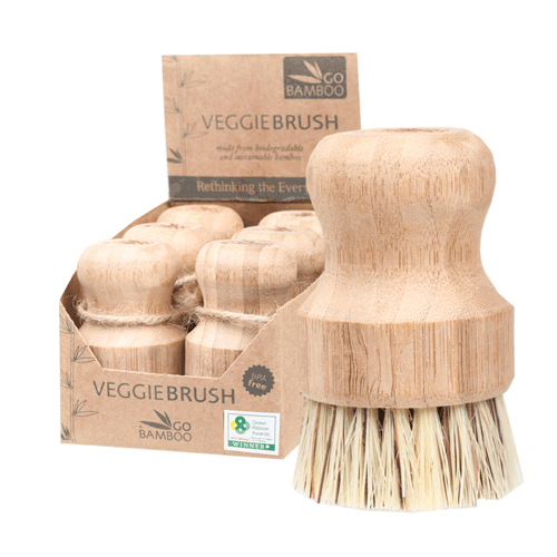GO BAMBOO Veggie Brush 100% Biodegradable 1