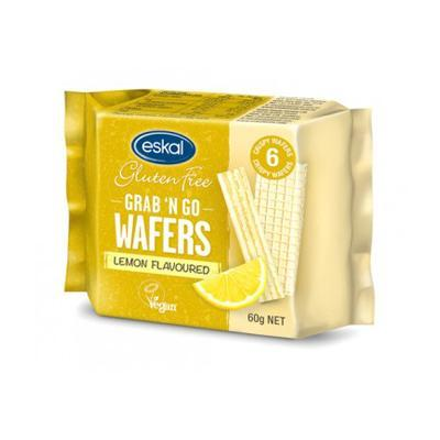 Eskal Grab 'n Go Wafers Lemon G/F 60g