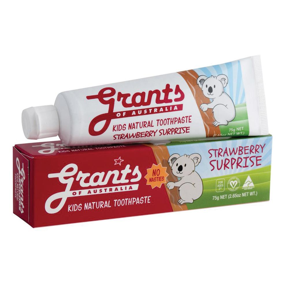 GRANTS Kids Natural Toothpaste Strawberry Surprise 75g