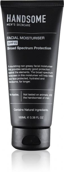 Handsome Men's Organic Skincare Facial Moisturiser SPF15 100ml