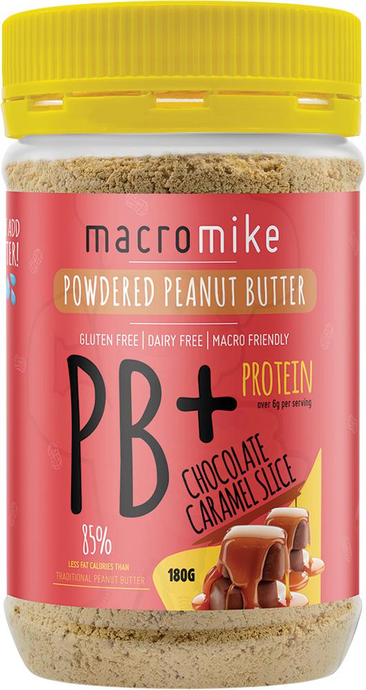 Macro Mike Powdered Peanut Butter Chocolate Caramel Slice