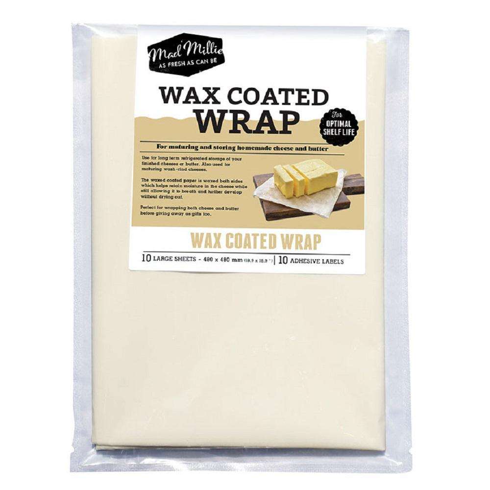 MAD MILLIE Wax Coated Wrap (480x480mm sheets) x 10 Pack