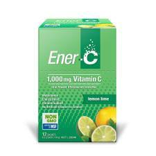 MARTIN & PLEASANCE Ener-C 1000mg Vitamin C Drink Mix Lemon Lime Sachet 9.5g x 12 Pack
