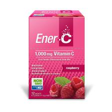 MARTIN & PLEASANCE Ener-C 1000mg Vitamin C Drink Mix Raspberry Sachet 9.3g x 12 Pack