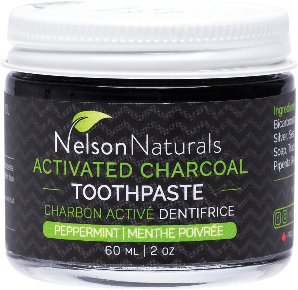 Nelson Naturals Inc. Activated Charcoal Toothpaste Peppermint