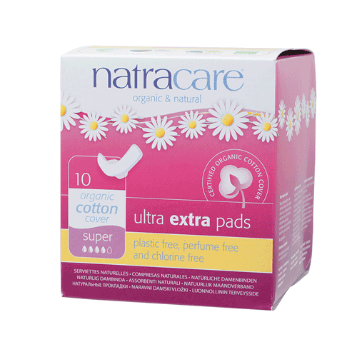 NATRACARE Ultra Extra Pads Super (Wings) 10