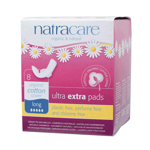 NATRACARE Ultra Extra Pads Long (Wings) 8