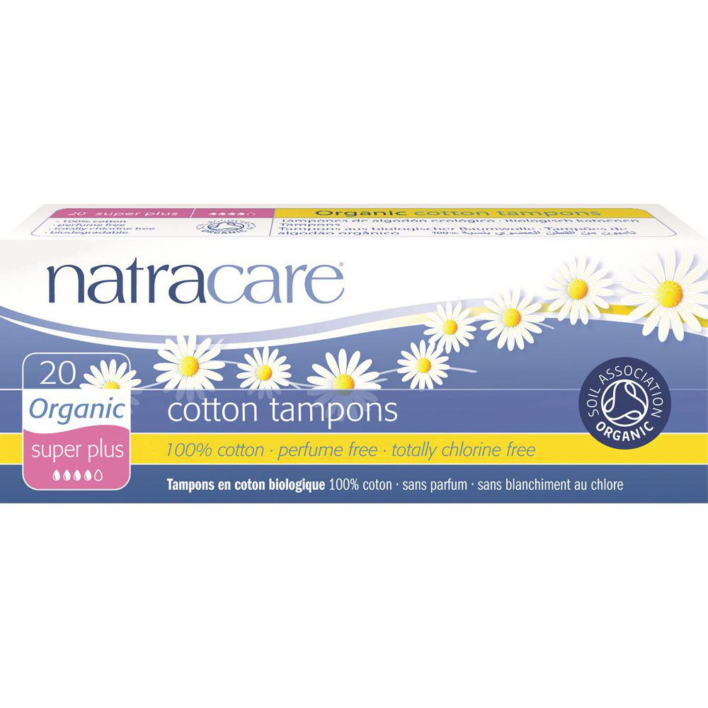 NATRACARE Organic Cotton Tampons Super Plus x 20 Pack