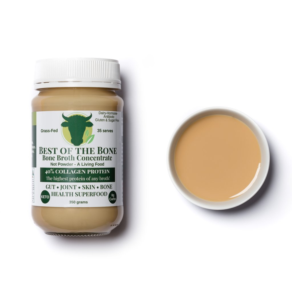 BEST OF THE BONE - GRASS-FED CERTIFIED BEEF BONE BROTH CONCENTRATE - HIGHEST BROTHS IN BIOAVAILABLE COLLAGEN PROTEIN!
