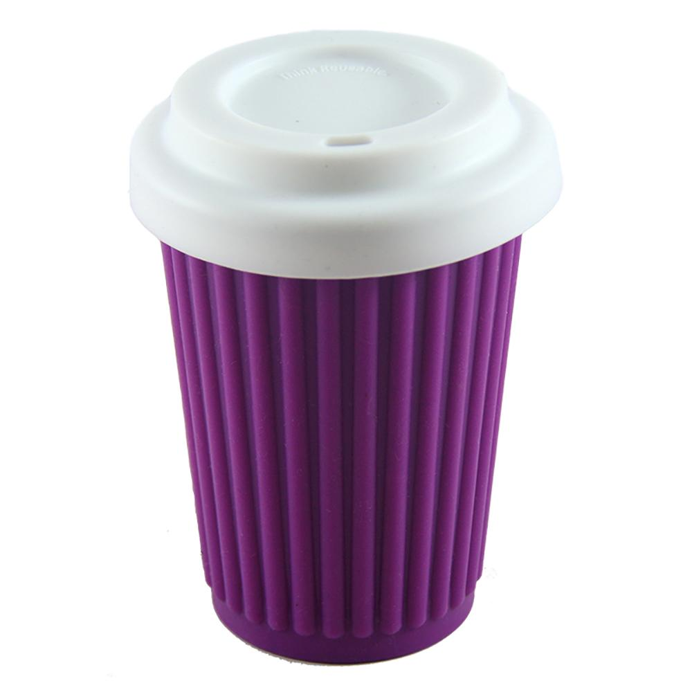 ONYA Reusable Coffee Cup Purple 340ml