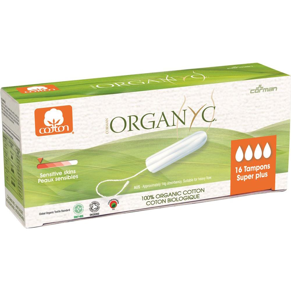 ORGANYC Tampons Super Plus x 16 Pack