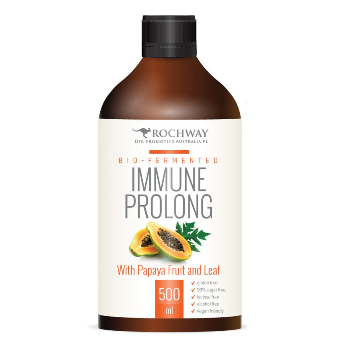 ROCHWAY Bio-Fermented Immune Prolong with Papaya Fruit and Leaf 500ml