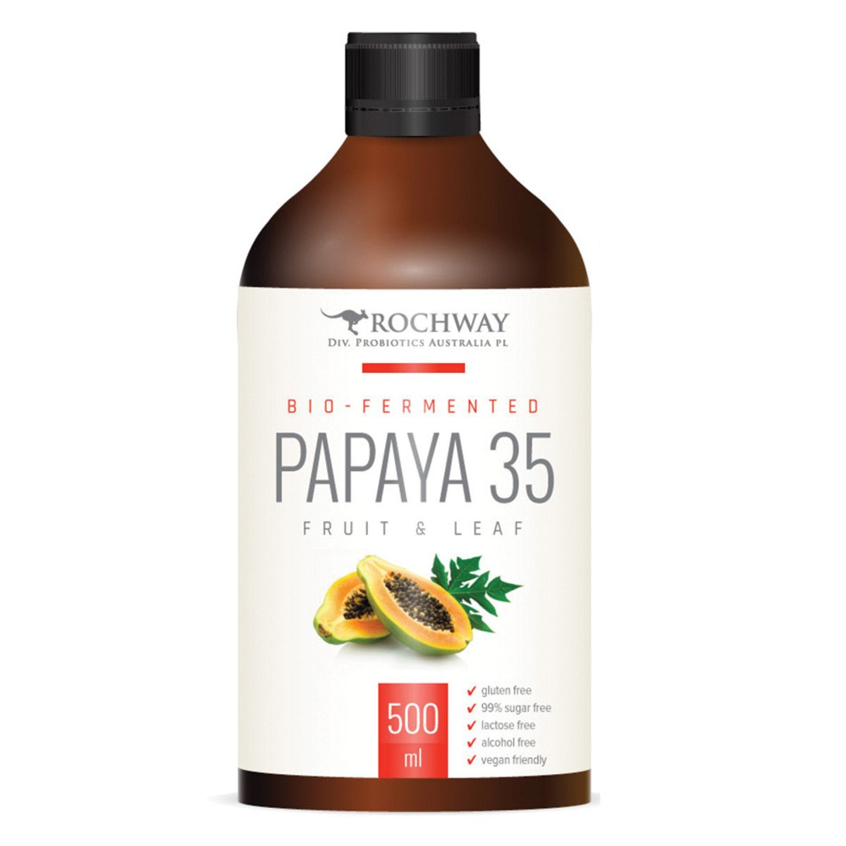 ROCHWAY Bio-Fermented Papaya 35 Fruit & Leaf 500ml