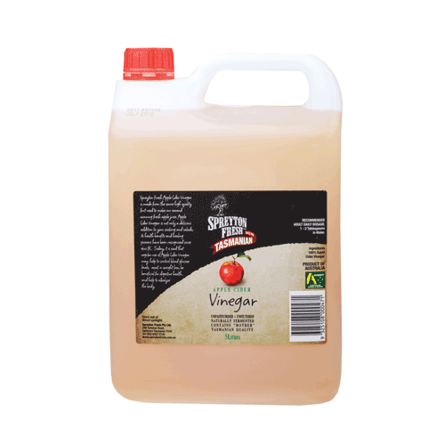 SPREYTON FRESH Apple Cider Vinegar Unpasteurised & Unfiltered 5L