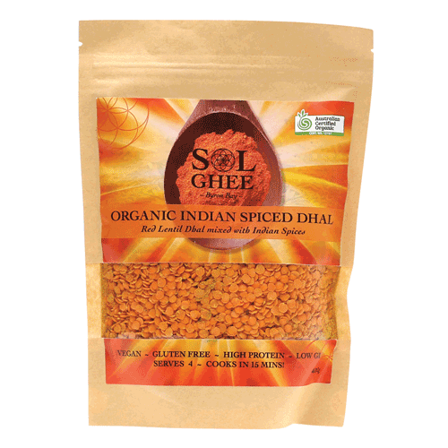 SOL ORGANICS Organic Indian Spiced Dhal Red Lentil Dhal Mix 400g