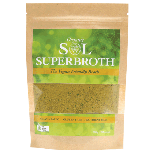 SOL ORGANICS Superbroth Vegan Friendly Broth 130g
