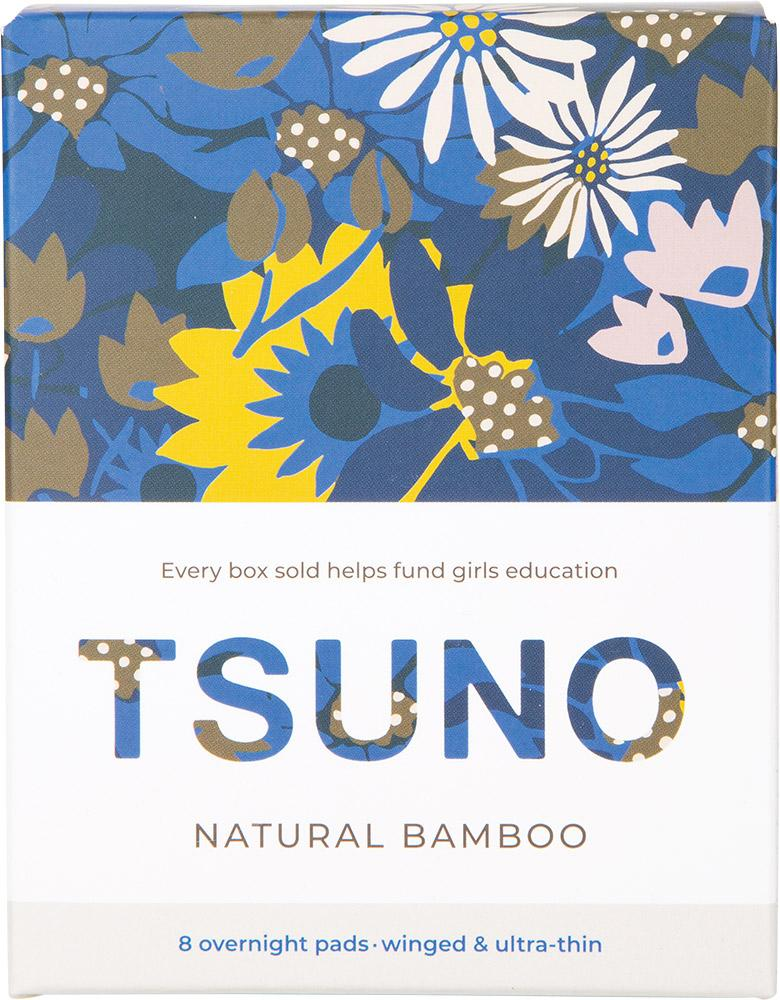 Tsuno Natural Bamboo Pads Overnight (Winged & Ultra-Thin)