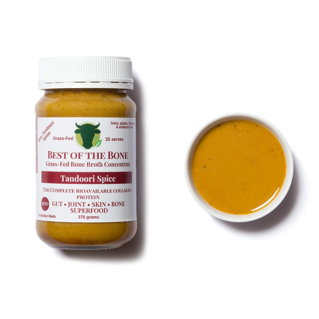 BEST OF THE BONE TANDOORI SPICE - THE EXOTIC COLLAGEN DENSE GRASS-FED BEEF BONE BROTH