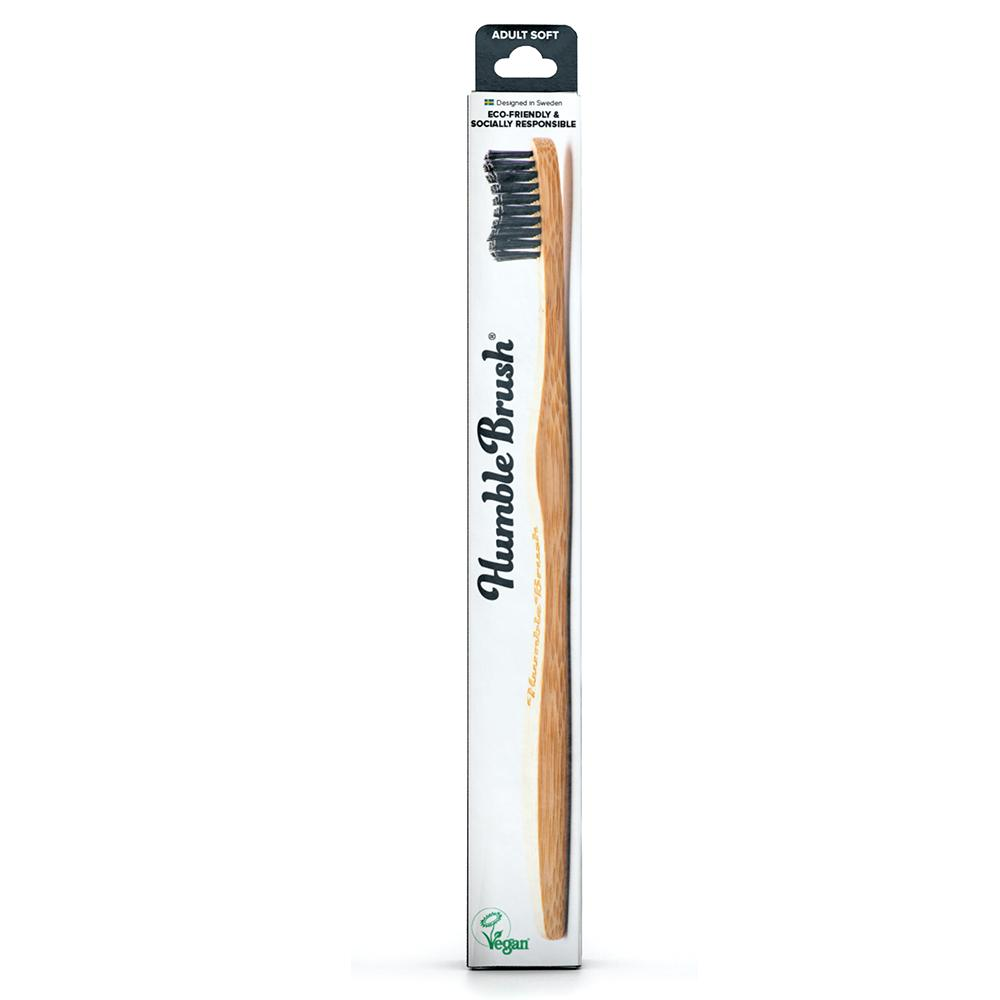 THE HUMBLE CO. Toothbrush Bamboo Adult Soft Black