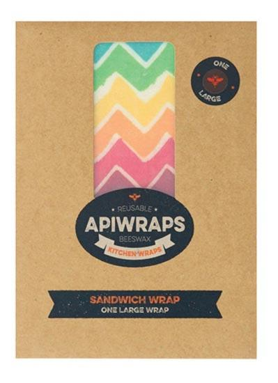 APIWRAPS Reusable Beeswax Wraps- Sandwich 1 x Large 1