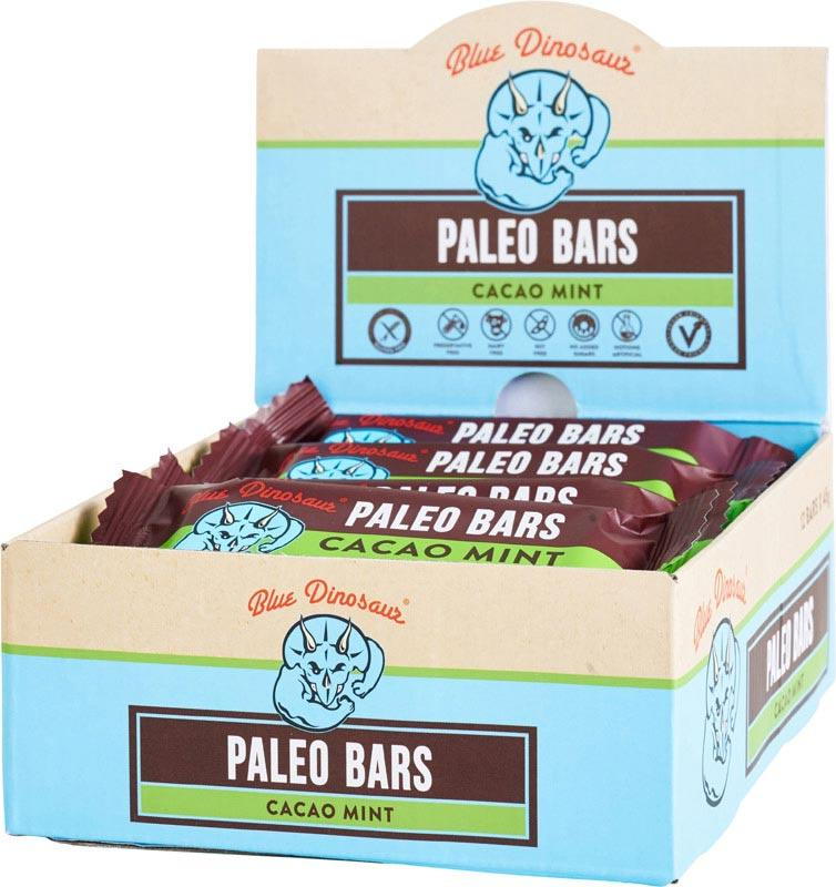 BLUE DINOSAUR Paleo Bars Cacao Mint - Box of 12 12x45g