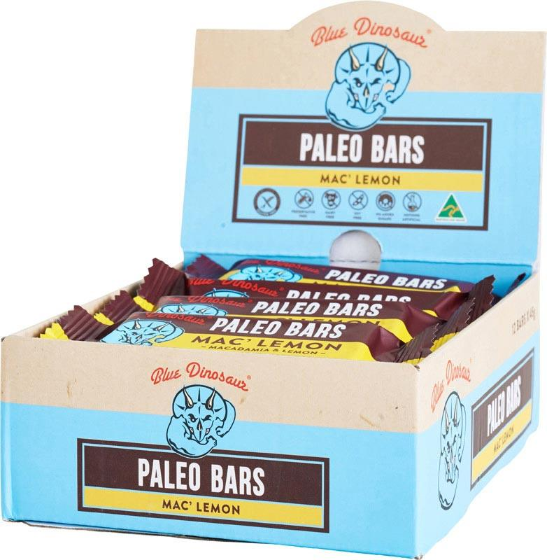 BLUE DINOSAUR Paleo Bars Mac' Lemon - Box of 12 12x45g