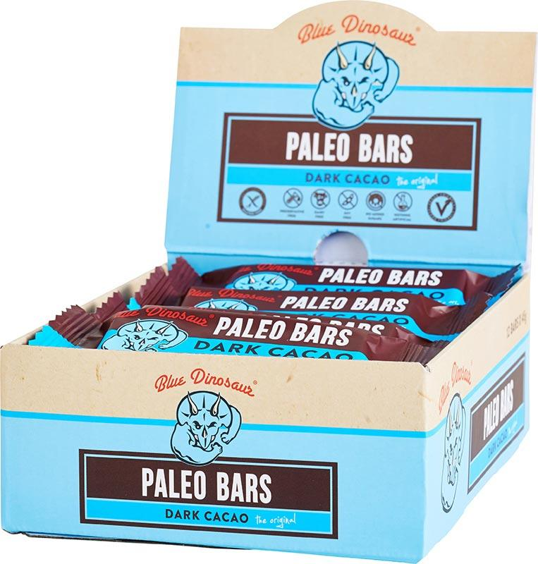 BLUE DINOSAUR Paleo Bars Dark Cacao - Box of 12 12x45g