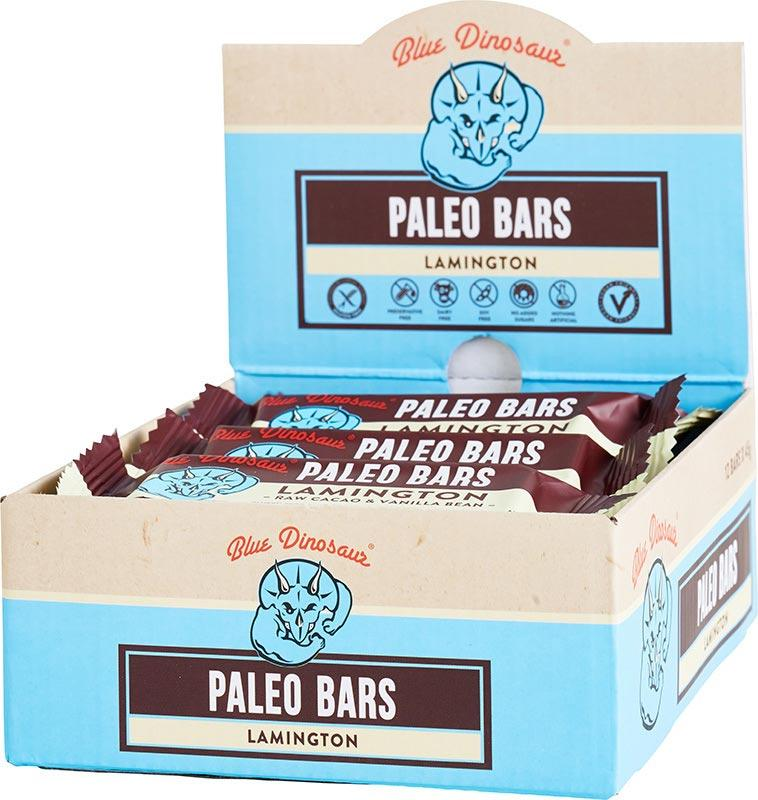 BLUE DINOSAUR Paleo Bars Lamington - Box of 12 12x45g