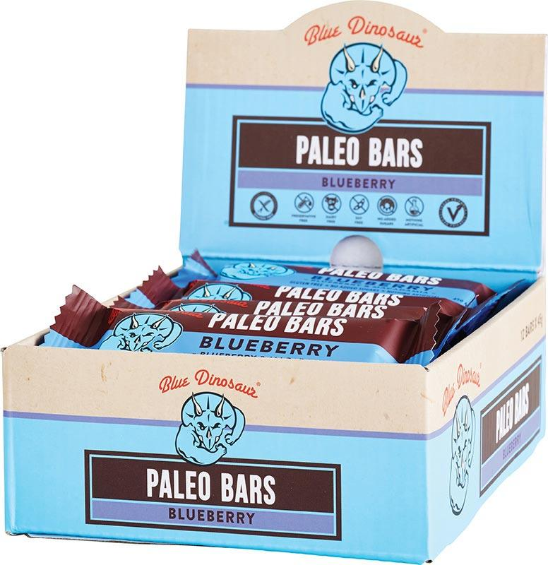BLUE DINOSAUR Paleo Bars Blueberry - Box of 12 12x45g