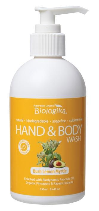 BIOLOGIKA Hand & Body Wash Bush Lemon Myrtle 250ml