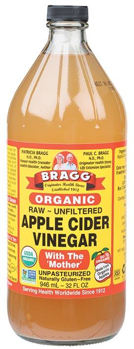 BRAGG Apple Cider Vinegar Unfiltered & Contains The Mother 946ml
