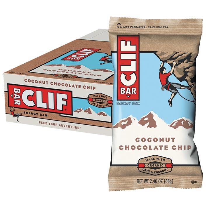 CLIF BAR Coconut Chocolate Chip Display Box of 12 12x68g