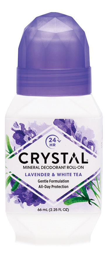 CRYSTAL ESSENCE Roll-On Deodorant Lavender & White Tea 66ml