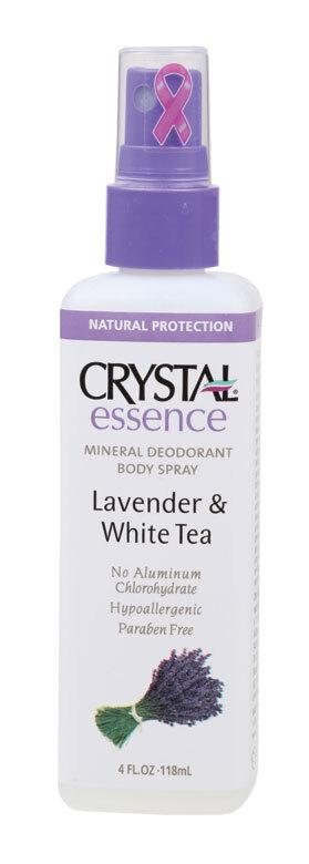CRYSTAL ESSENCE Deodorant Spray Lavender & White Tea 118ml