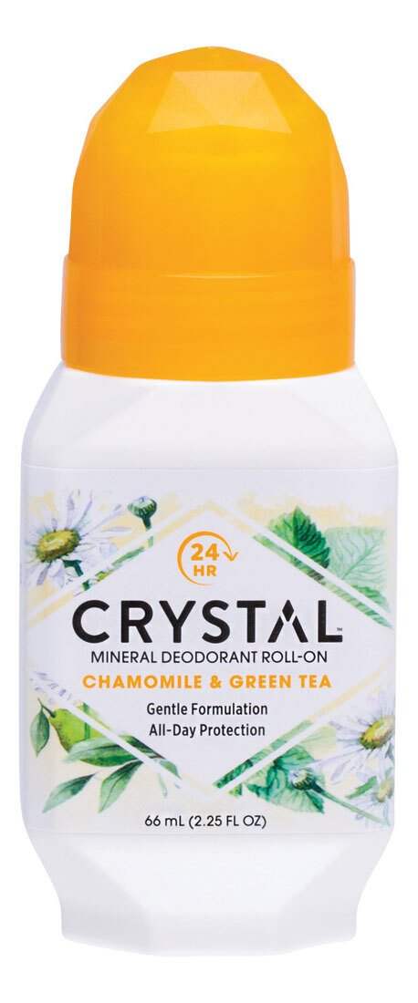 CRYSTAL Roll-On Deodorant Chamomile & Green Tea 66ml