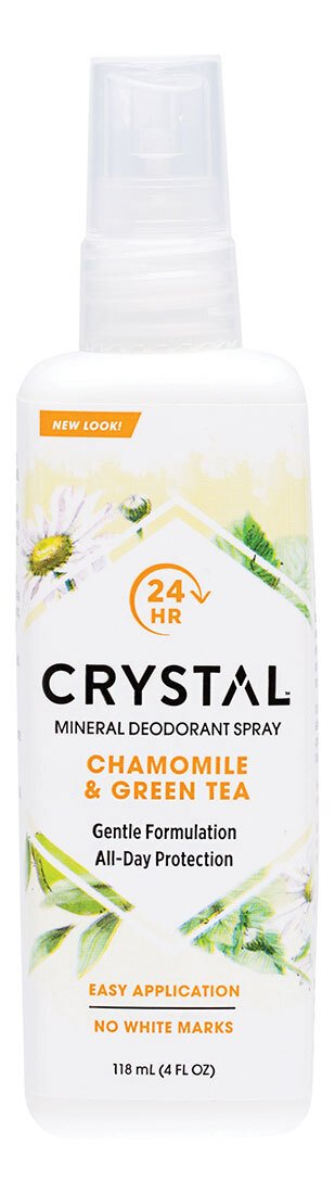 CRYSTAL ESSENCE Deodorant Spray Chamomile & Green Tea 118ml
